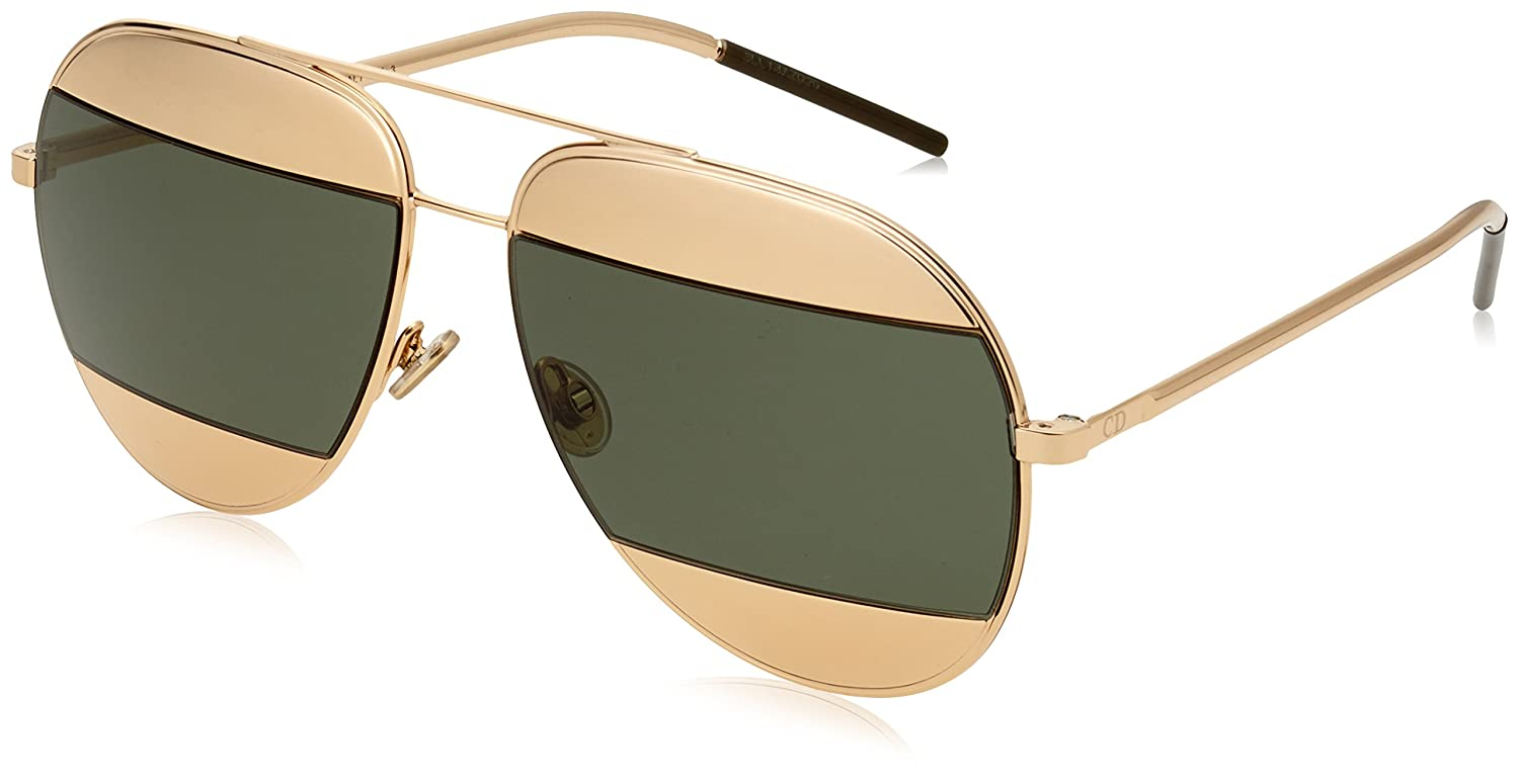 fcf38cac1fee2 Amazon.com  Dior Women CD SPLIT1 59 Rose Gold Silver Sunglasses 59mm   Clothing