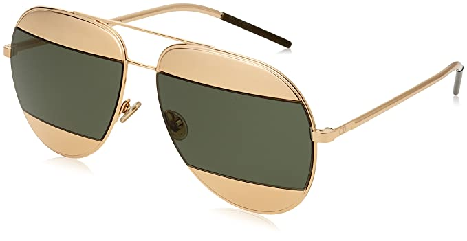 97a0506e1183 Image Unavailable. Image not available for. Color  Dior Women CD SPLIT1 59 Rose  Gold Silver Sunglasses 59mm