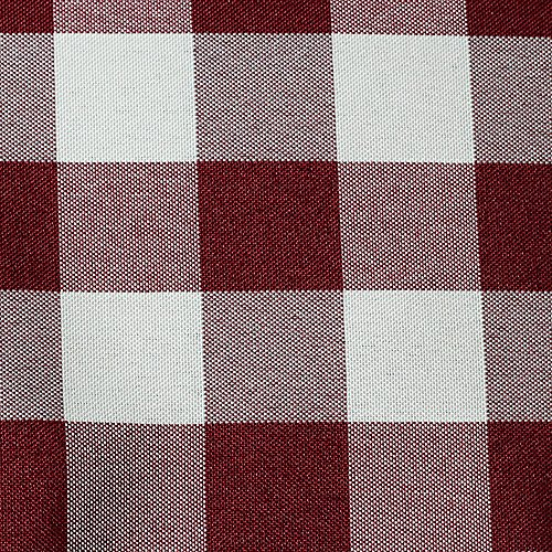Ultimate Textile -10 Dozen- 10 x 10-Inch Polyester Checkered Cloth Cocktail Napkins, Burgundy and White by Ultimate Textile (Image #2)