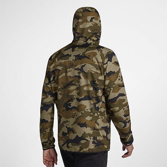 bac5f960cd2e9 Amazon.com: Nike Dri-FIT Woven Camo Men's Training Jacket (Dark Grey/White,  Large): Clothing