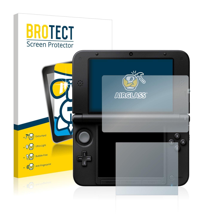 brotect Protector Pantalla Cristal Compatible con Nintendo 3DS XL SPM7800 Protector Pantalla Vidrio Dureza 9H AirGlass