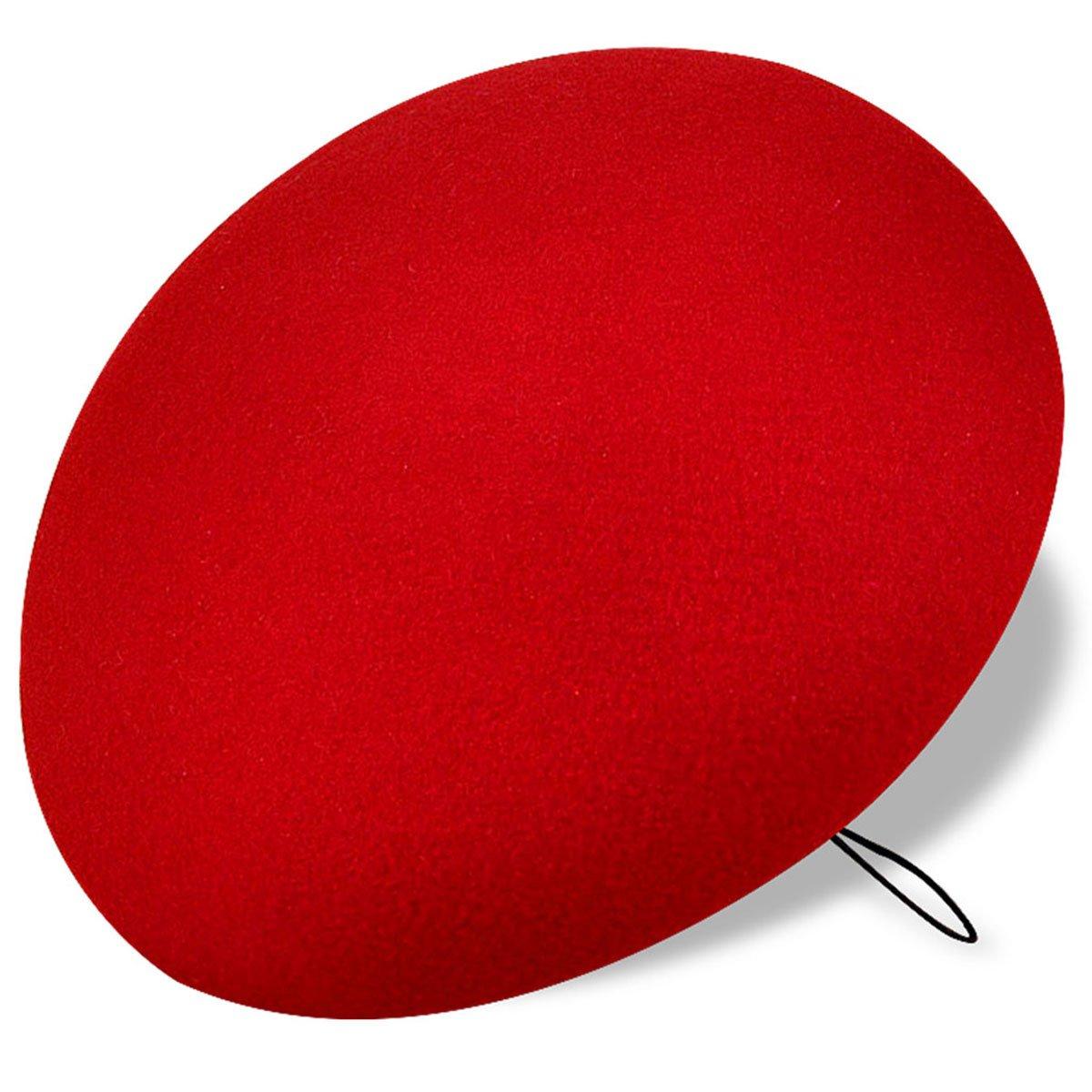 Lawliet Elegant Solid Circle 6.69 Wool Felt Fascinator Base Millinery Craft Fashion Pillbox Hat A048Black