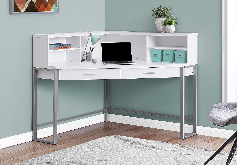 - Amazon.com: Monarch Specialties Corner Desk With Hutch & Storage