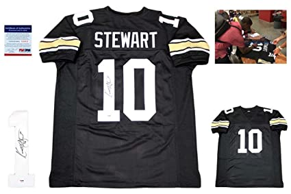 247a35d436e Kordell Stewart Signed Jersey - Custom w Photo 2 - PSA DNA Certified -  Autographed