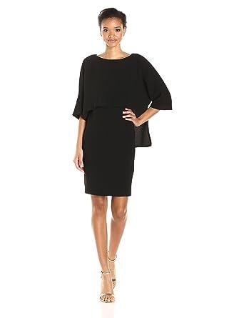 Amazon.com: Adrianna Papell Women\'s Draped Blouson Sheath Dress ...