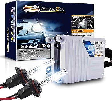 55W 9006//HB4 Headlight Xenon Bulbs /& AC Slim Ballasts HID Kit 8000K Light Blue