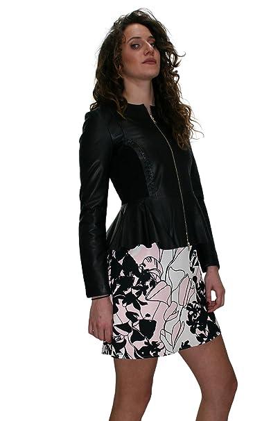LIU JO giacca in pelle colore Nero Collezione Primavera-Estate 2018   Amazon.it  Abbigliamento 8e68092721a