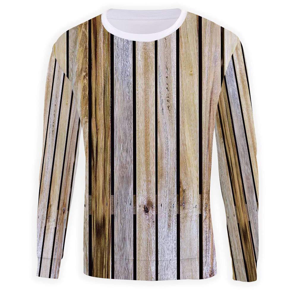 MOOCOM Mens Crewneck Rustic Home Decor Sweatshirt