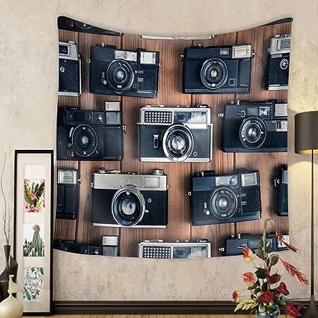 Niasjnfu Chen - Tapiz de tela para pared, diseño de cámara antigua ...