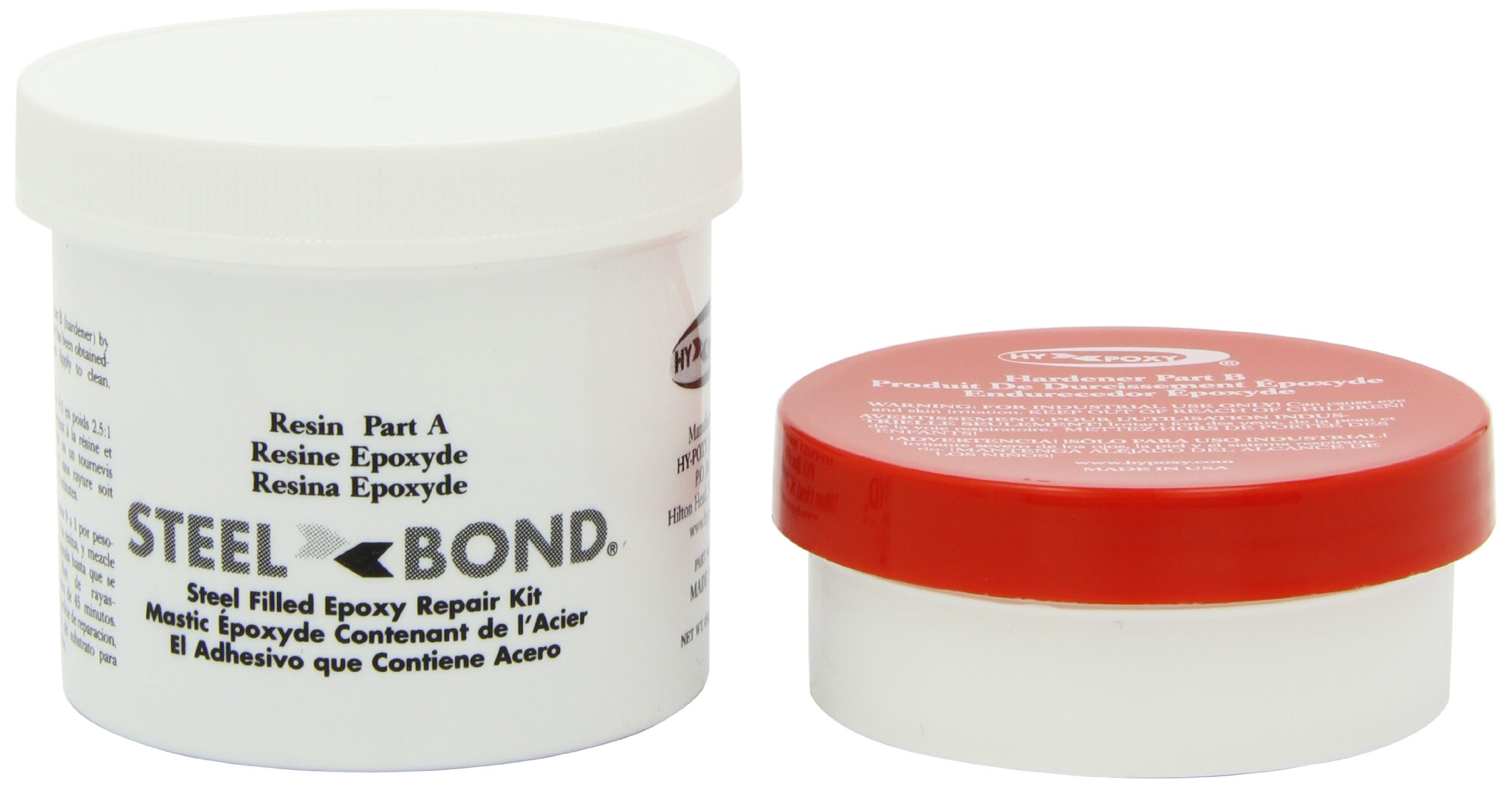 Hy-Poxy H-100 Steelbond 1 lbs Steel Filled Putty Repair Kit by HY-POXY