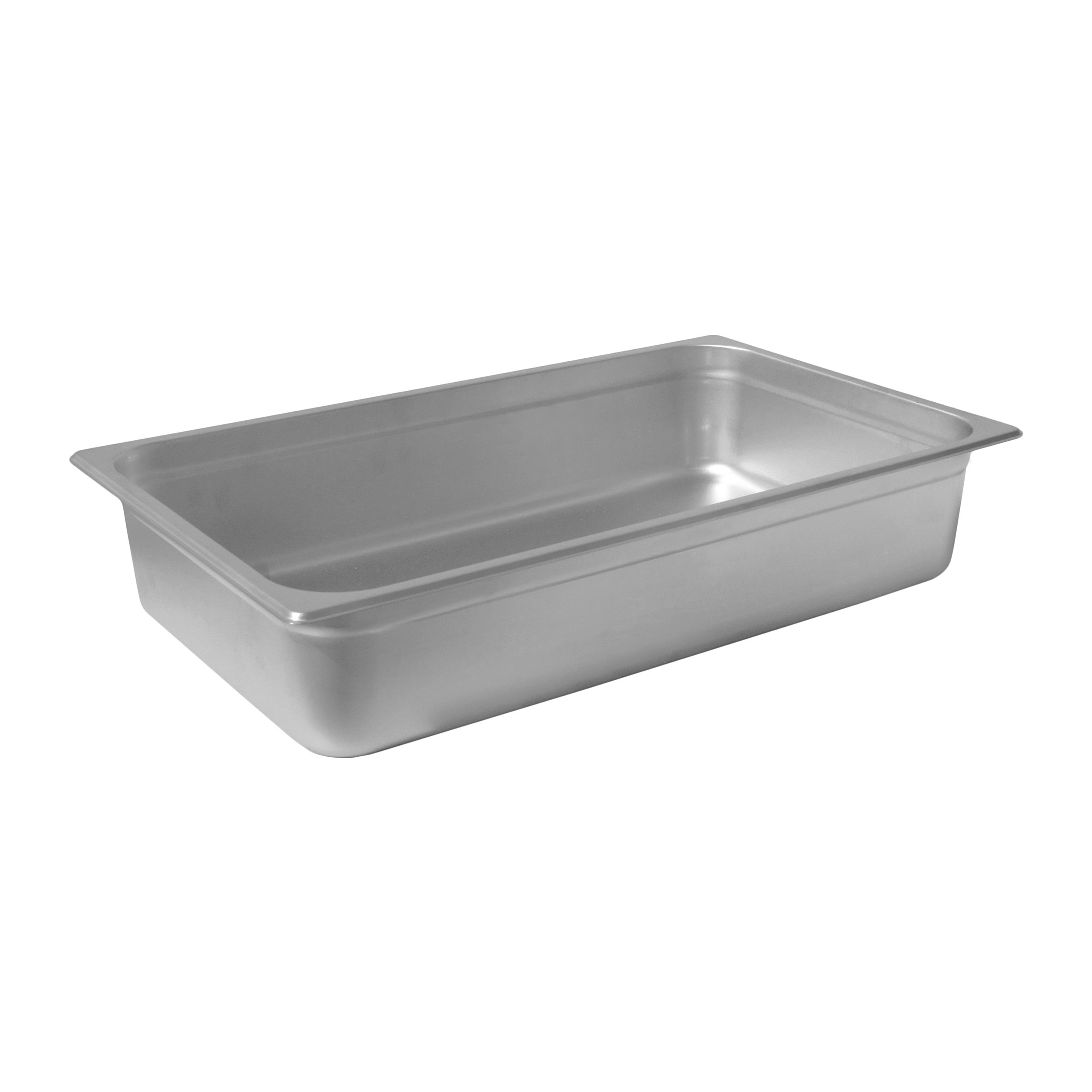 Chef's Supreme - 4'' Full Size Stainless Steam Table Pan by Chef's Supreme