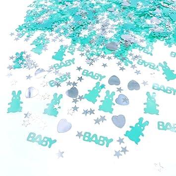 JZK 4 x Paquetes Azul Chico Fiesta de Bienvenida al bebé Confeti Bautizo bebé Confeti cumpleaños