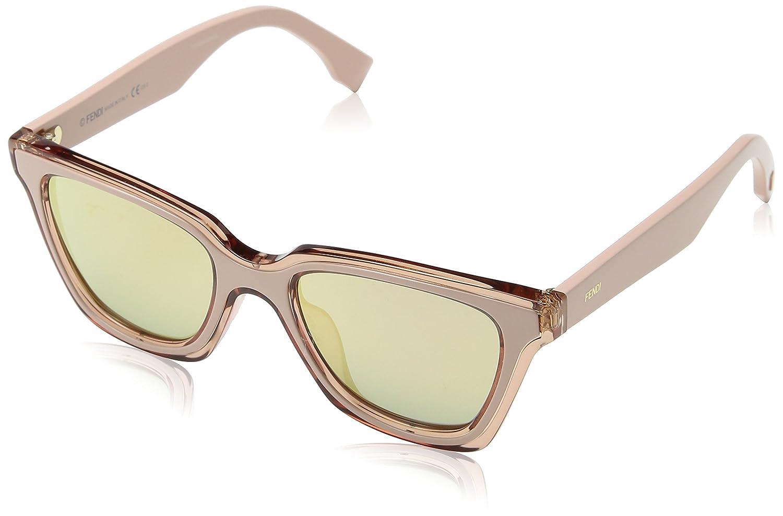 c66501f9 Amazon.com: Sunglasses Fendi Ff 195/S 0JQ2 Pink / 0J gray rose gold ...