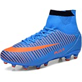 Aleader Men's Football Training Shoes Outdoor Soccer Boots Blue 9 UK