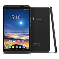 Yuntab H8 4G LTE Tablet - 8 pulgadas Tablet Phone( Quad-core, 64 bits, Android 7.0,GPS, 2GB +16GB, WiFi+4G, Touchscreen IPS 800 x 1280, DuaL SIM, Doble Cámara, Bluetooth4.0, Google Play Store) (Negro)