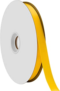 "product image for Offray Berwick 5/8"" Single Face Satin Ribbon, Daffodil Yellow, 100 Yds"