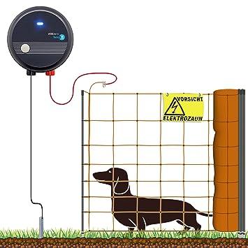 100m Komplettset für mittelgroße Hunde Weidezaungerät Elektronetz Hundezaun