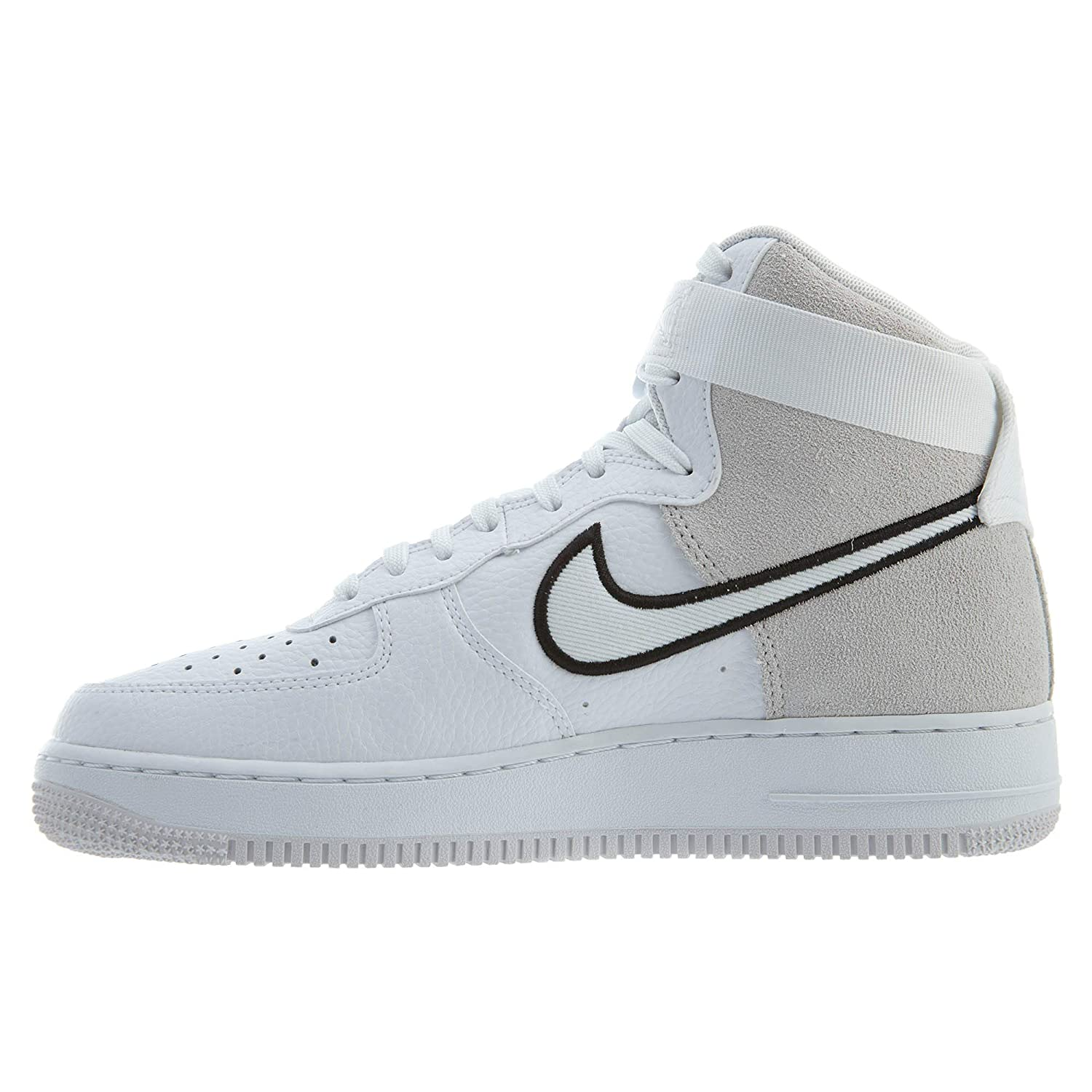 7d21131b2 Amazon.com | Nike Men's Air Force 1 High '07 LV8 1 White/Black/Vast Grey  AO2442-100 | Basketball