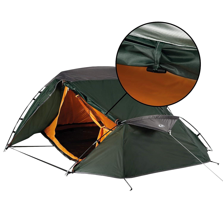 Ultrasport Trekking tienda, color verde/naranja, tamaño 3 3 3 personas 8bfb15
