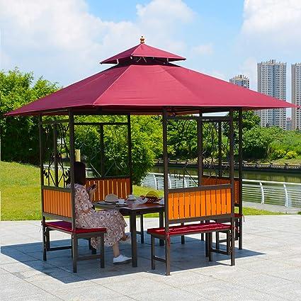 DZWJ Jardín al Aire Libre Patio Gazebo Refugio Tienda de toldo a Prueba de Agua Toldo Carpa con mosquitera Paredes Laterales,D: Amazon.es: Deportes y aire libre