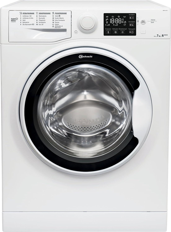Bauknecht WM Pure 7G41 Waschmaschine Frontlader / A+++ -10% / 1400 UpM / 7 kg / Weiß / langlebiger Motor / Nachlegefunktion / Wasserschutz [Energieklasse A+++]