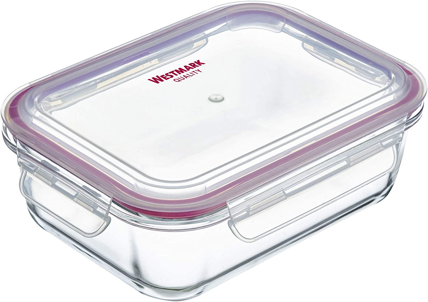 Westmark Glass Food Storage Container, Plastic, Silicone, 1040 ml, Transparent