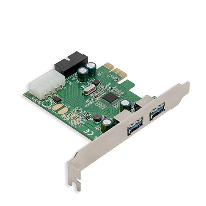 Syba 2 External USB 3.0 Port and 19 Pin Internal Header PCIe 2.0 x1 – 4 Port USB 3.0 PCI-Express x1 Renesas D720201 Chipset Molex Power Input
