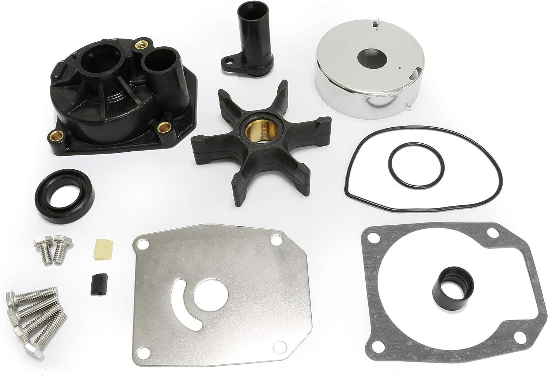 PumuHo Johnson Evinrude 432955 Sierra 18-3389 Water Pump Repair Kit Outboard Impeller With Housing 60HP 65HP 70HP 75HP 436957 0438591