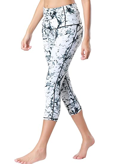 Dragon Fit Compression Yoga Pants Power Stretch Workout Leggings with High Waist Tummy Control