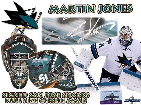 Martin Jones Signed San Jose Sharks Full Size Goalie Mask W Coa Hologram