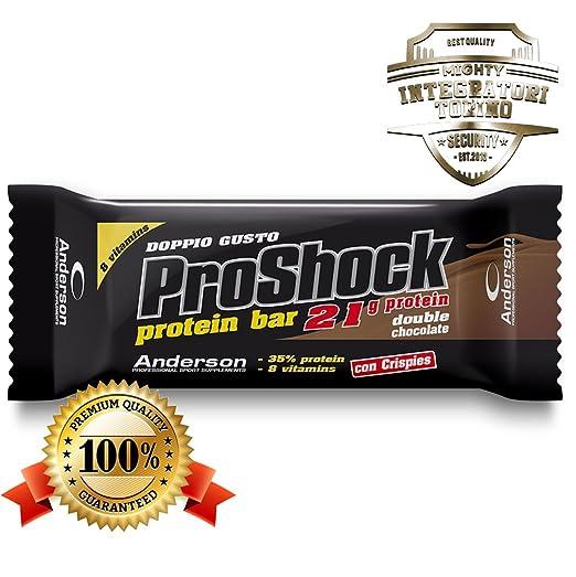 6 opinioni per 24 Barrette proteiche Anderson Proshock