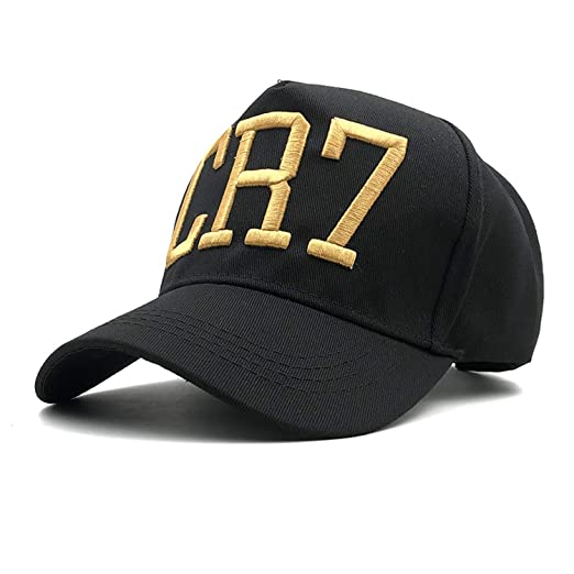 5eec196a6cf20 Newest Style Cristiano Ronaldo Embroidery Baseball Caps Hip Hop Caps  Football Hats for Men Women Black at Amazon Women s Clothing store
