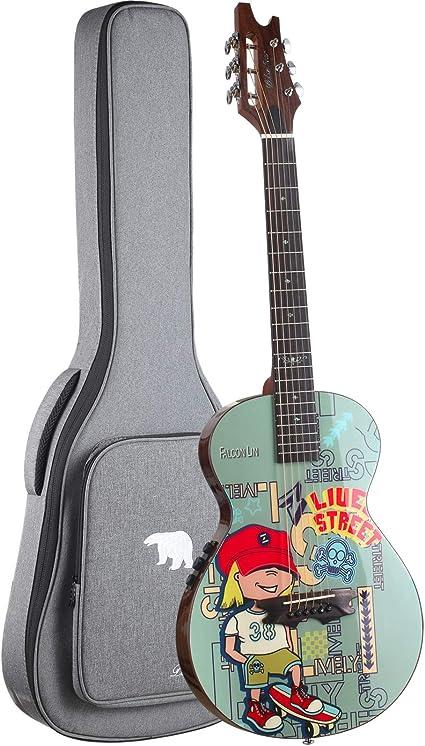 Guitarra acústica eléctrica Moozica de 36 pulgadas - Guitarra ...