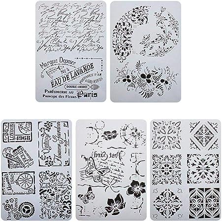 12 Pcs//set Template Art Painting Template Decor Journal Stencil Set Diy Craft DS
