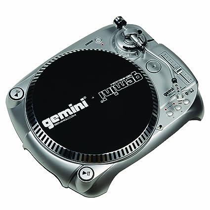 Gemini TT-1100USB - Tocadiscos para equipo de audio (USB, RCA), color plateado