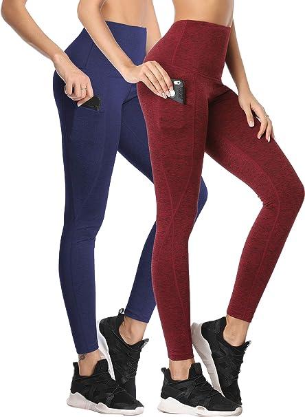 Neleus Womens Yoga Pants Tummy Control High Waist Workout Leggings with 2 Pocket
