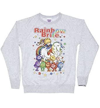 ac9306518f4 Womens Rainbow Brite and Sprites Sweater at Amazon Women s Clothing ...
