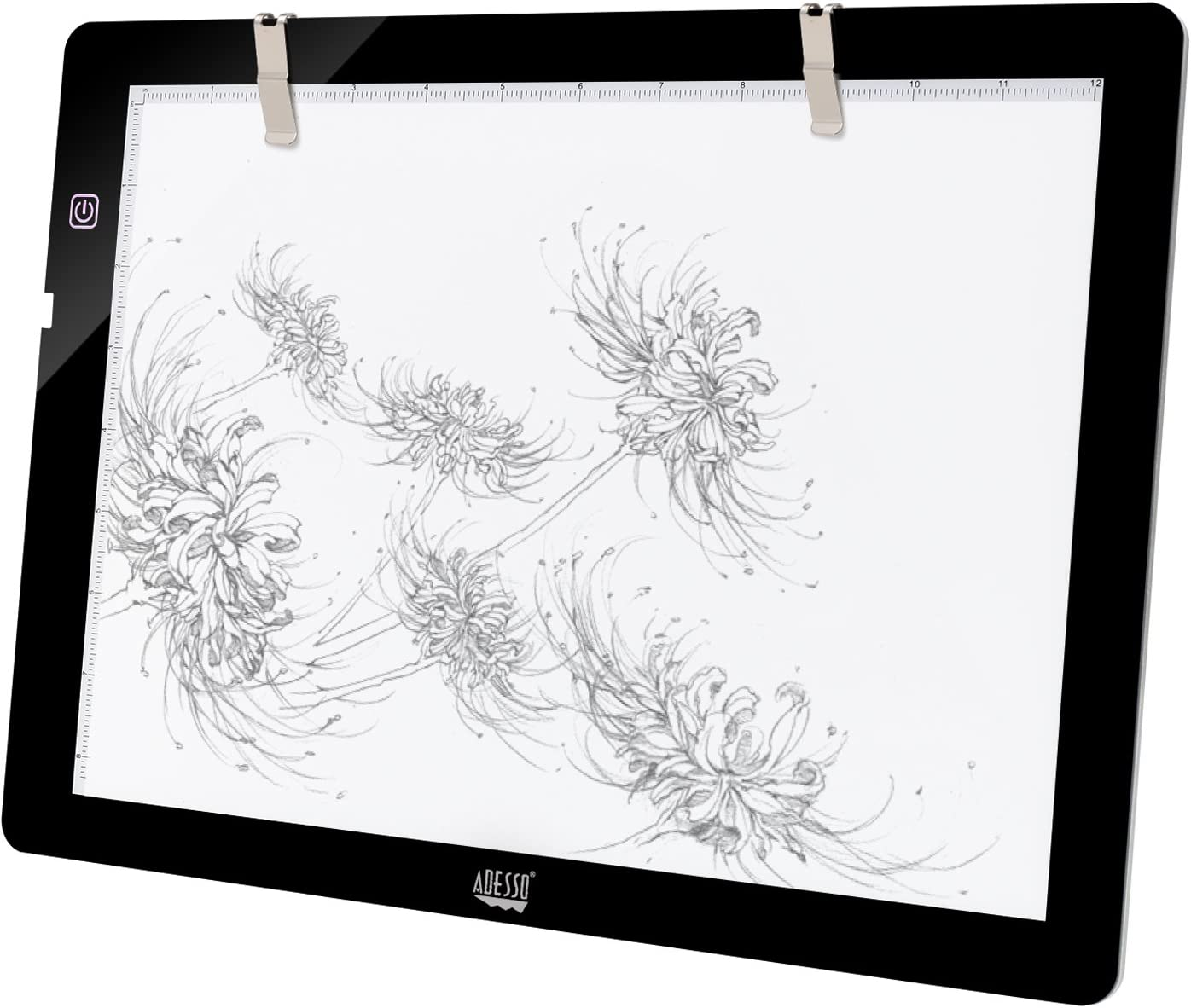 Black A4 Ultra-Thin Portable LED Light Box Tracer USB Power LED Artcraft Adesso 12 x 9 Tracing Pad CyberPad P1