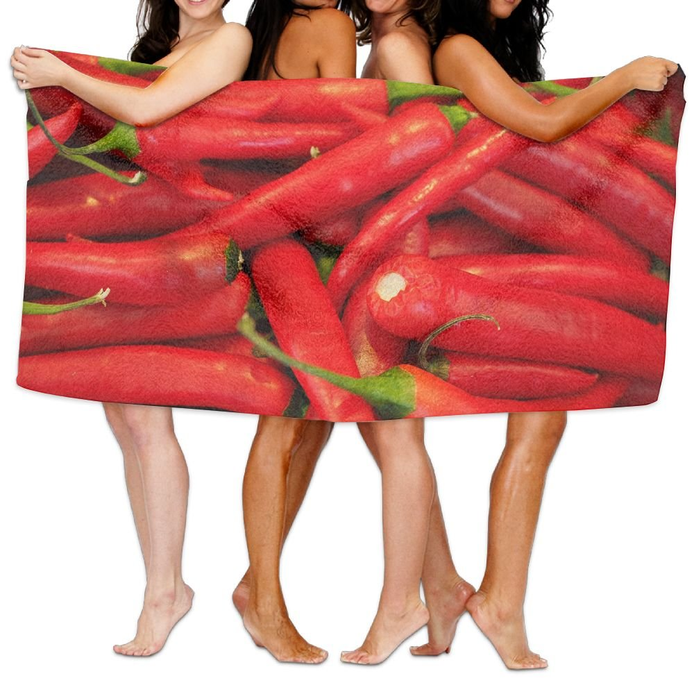 LRIRG Chili Red Pepper Soft And Super Absorbent Bath Towel, Suitable For Hotel, Swimming Pool, Gym, Beach