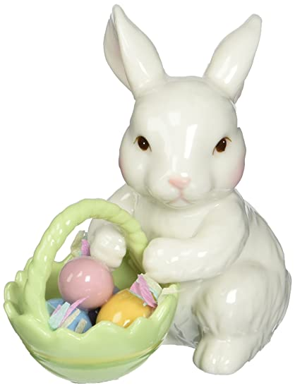 Amazon cosmos 10593 fine porcelain bunny with easter basket cosmos 10593 fine porcelain bunny with easter basket figurine 3 34 negle Images