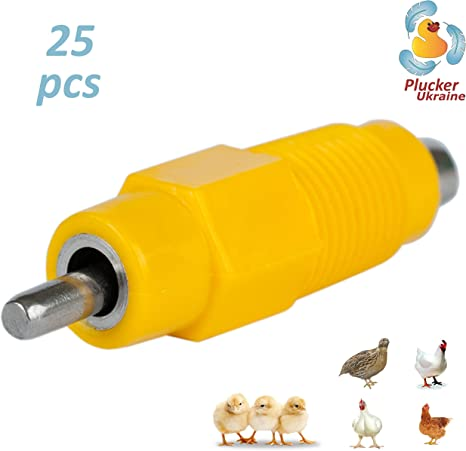 360 Degree Automatic Chicken Hen Screw In Poultry Water Nipple Drinker Garden