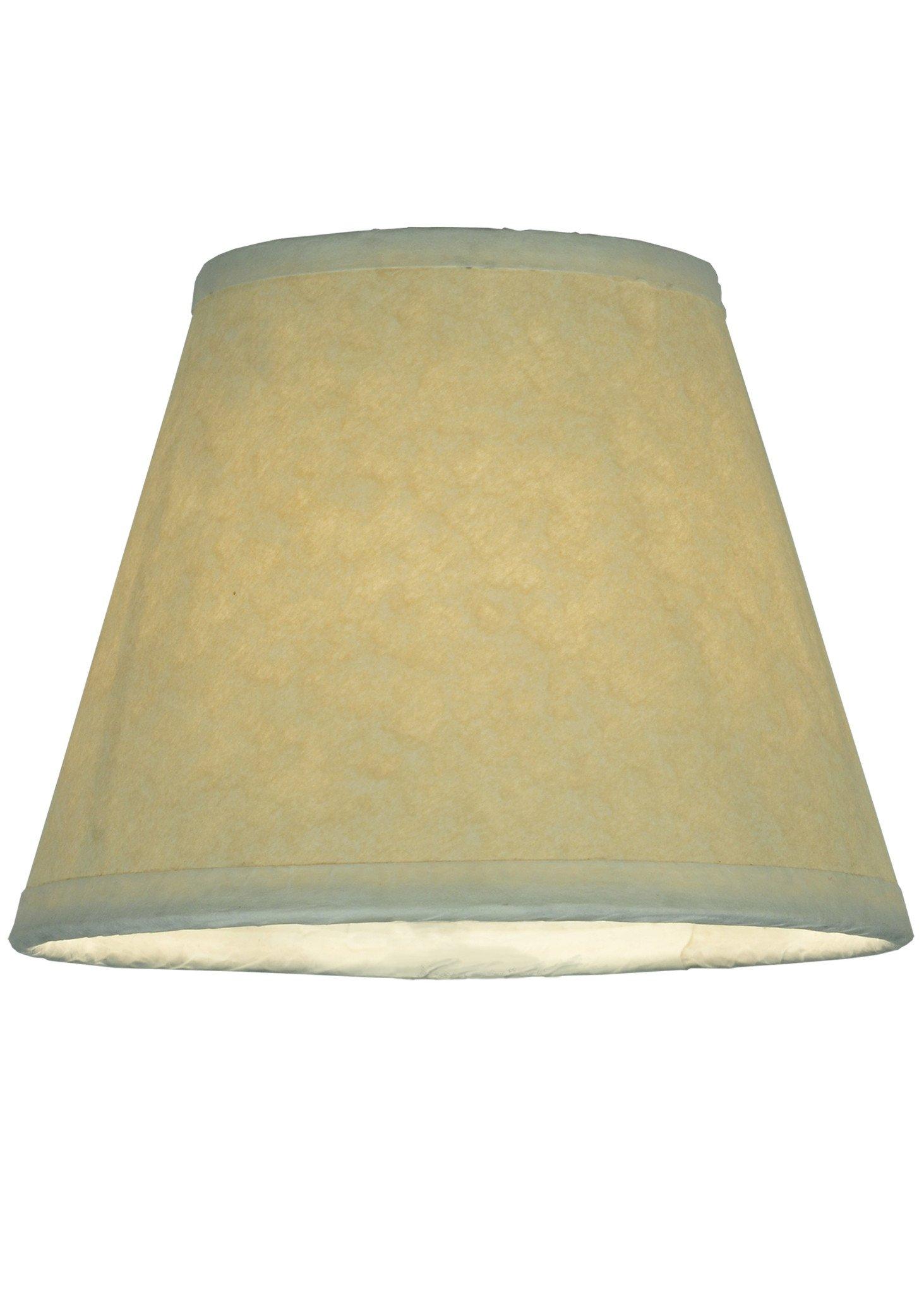 5 Inch W X 4 Inch H Aged Celadon Beige Parchment Shade , Shade Only , Meyda