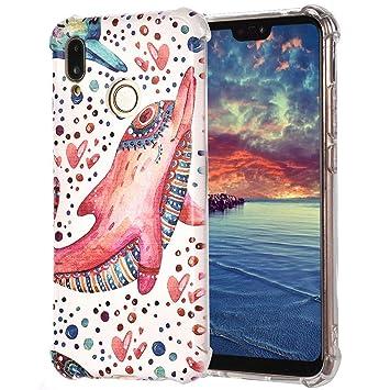 Amazon.com: For Huawei P20 Lite TPU Case, Painted Print ...