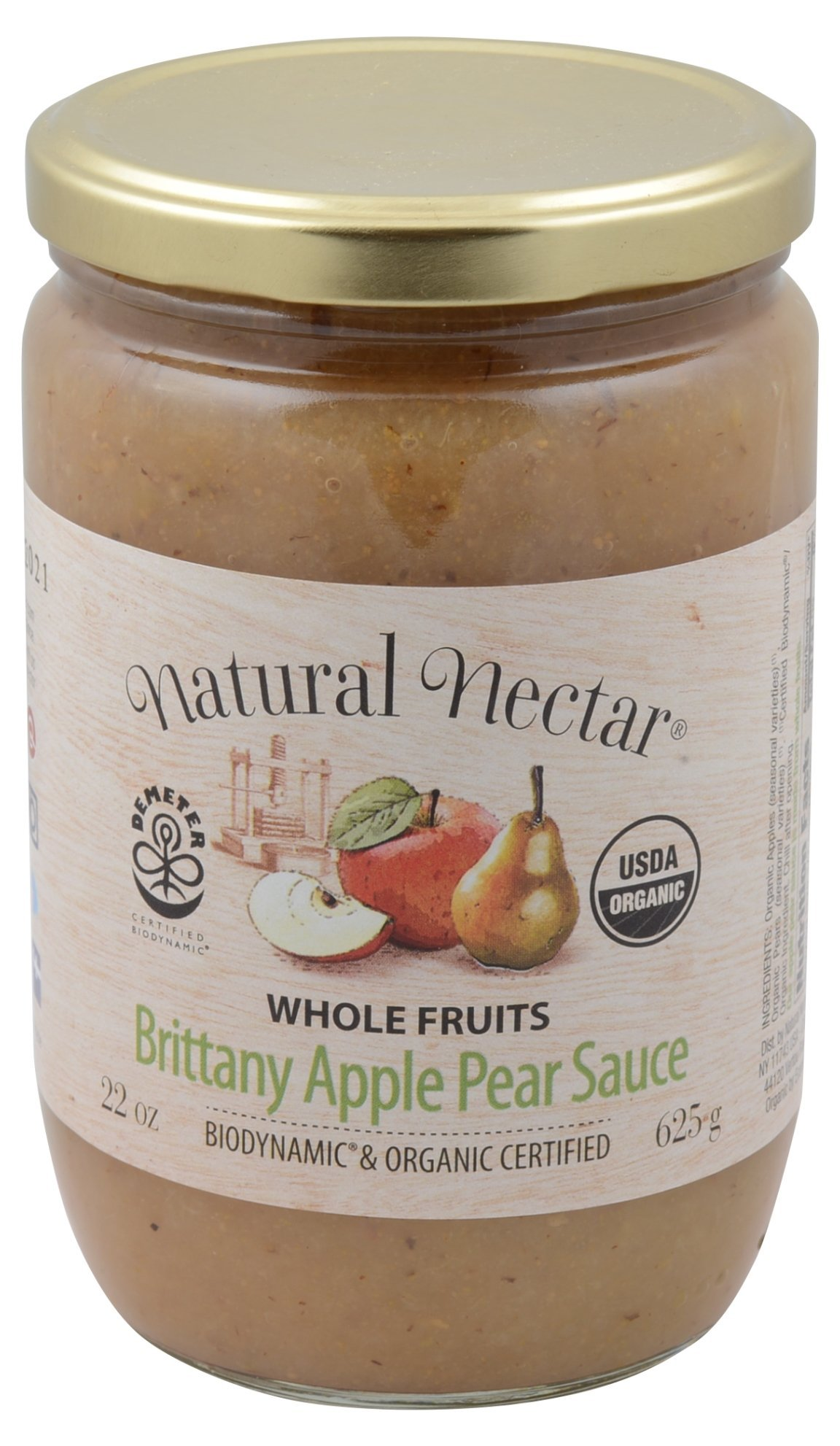 Natural Nectar Apple sauce Pear Biodynamic, 22 oz by Natural Nectar (Image #1)