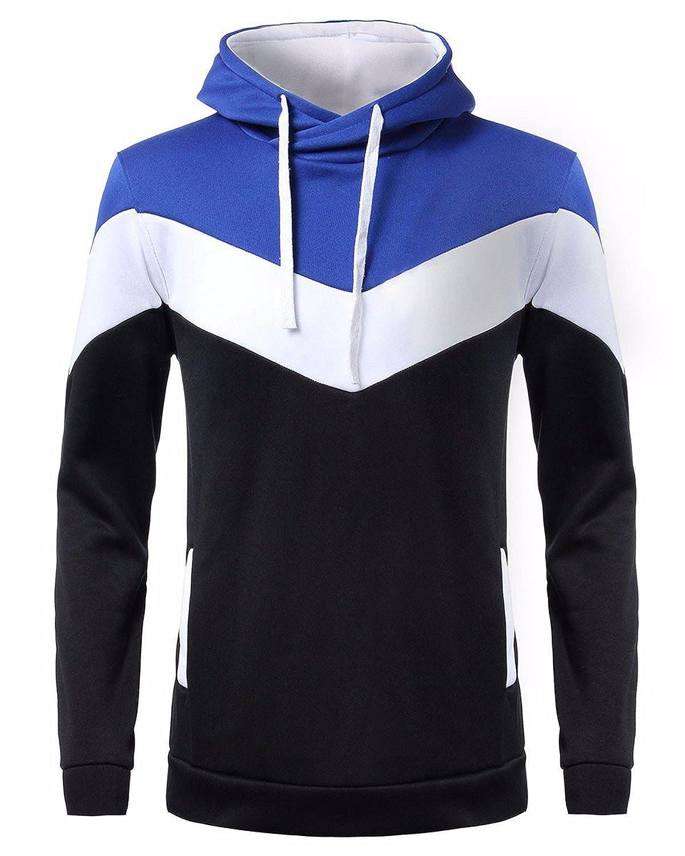 TALLA M. MODCHOK Hombre Sudadera con Capucha Deportiva Manga Larga Hoodie Casual Camisa de Entrenamiento?