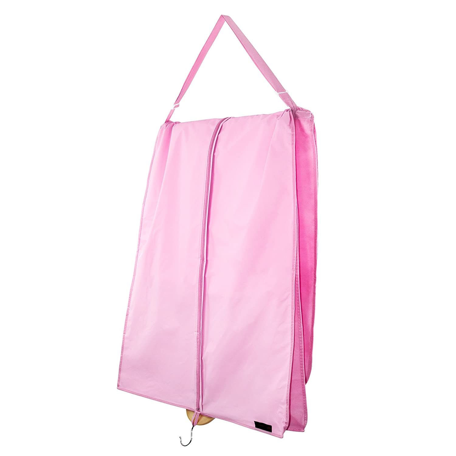 Amazon.com: Hangerworld Single Pink Dress & Gown Bag with Carry ...