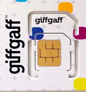 Giffgaff Trio/Multi Sim Card (£5 Bonus Credit When You Topup £10) -  Unlimited Calls, Texts and Data  Fits All Devices