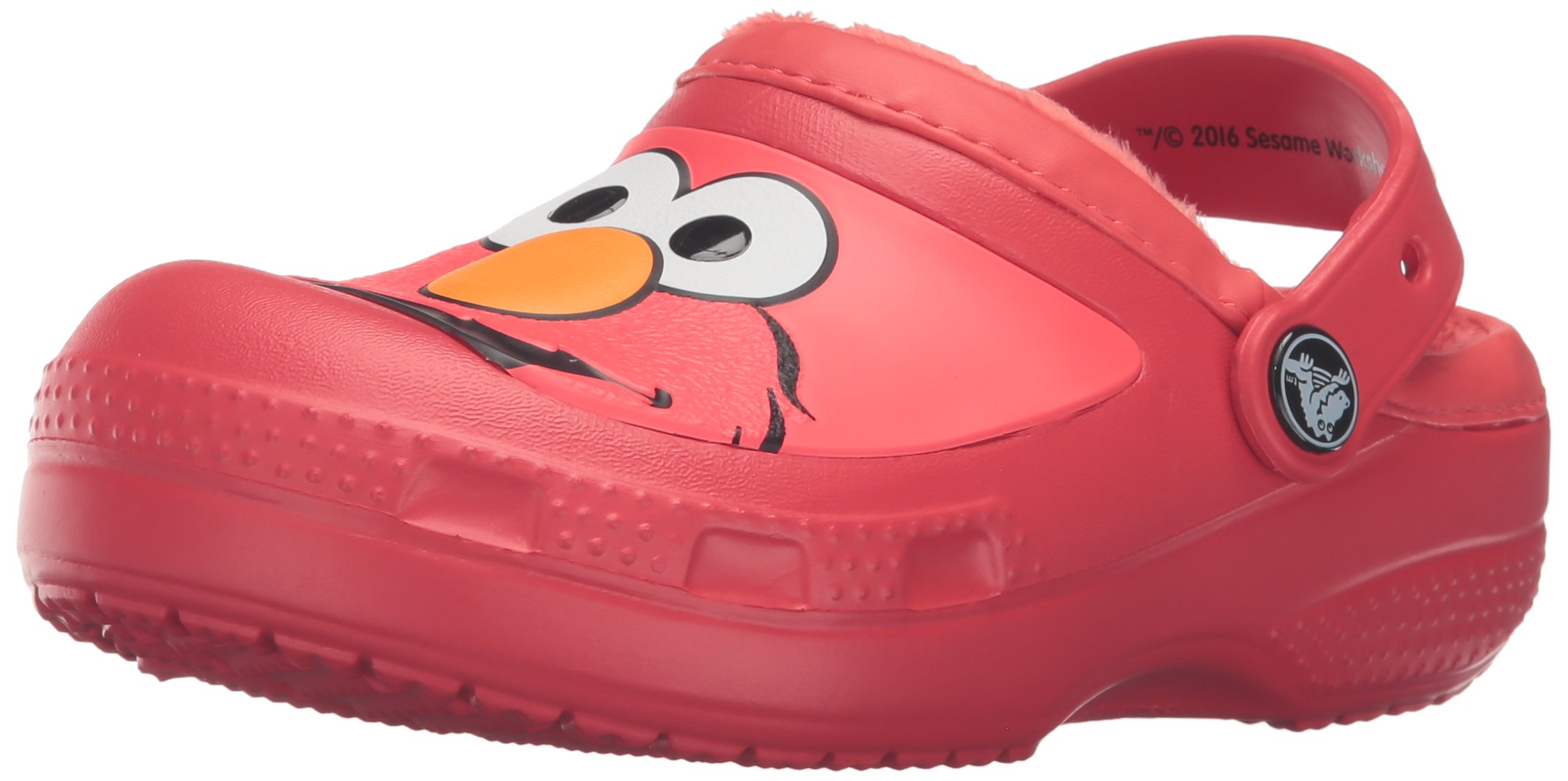 crocs CC Elmo Lined Clog (Toddler/Little Kid), Flame, 3 M US Little Kid