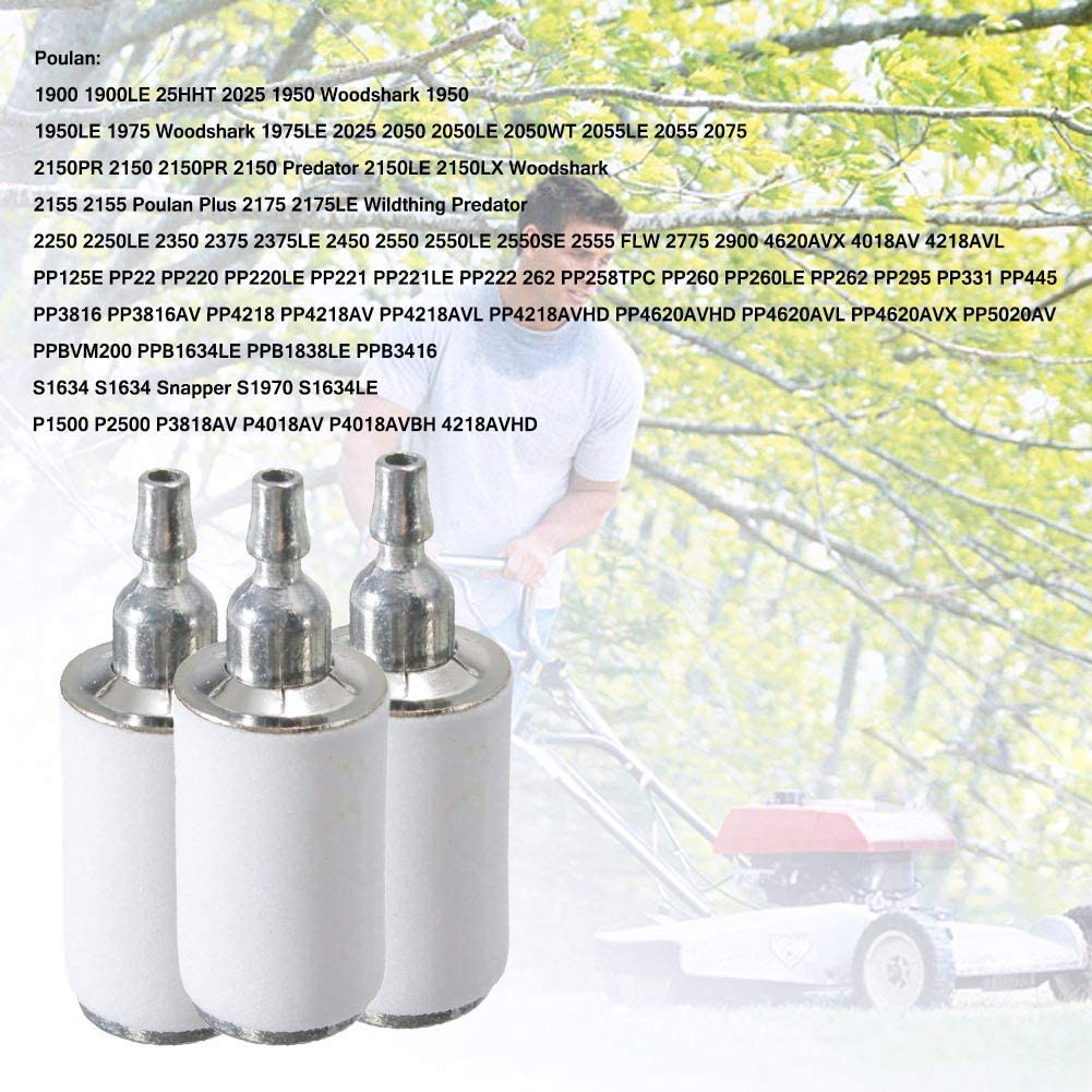 530095646 Fuel Filter for Poulan Chainsaw 2150 2050 2375 Weedeater Sting Trimmer//Blower Pack of 5 by Wadoy