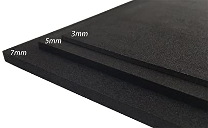 EVA Foam Sheet Craft Sheet Thickness 3mm/5mm/7mm Black 8 color For Cosplay  Project DIY(9 6